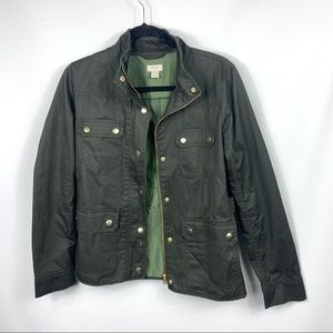 J. Crew Utility Olive Green Jacket